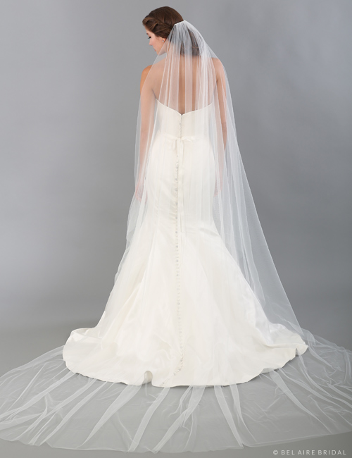 V7333C Soft luxe tulle cathedral veil