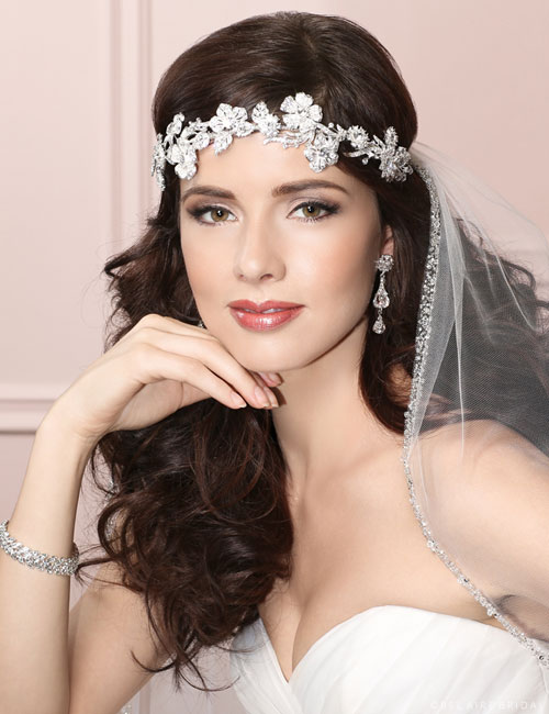 6450 Rhinestone flower headband