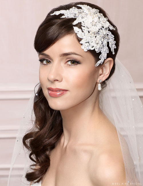 6456 Lace fascinator clip
