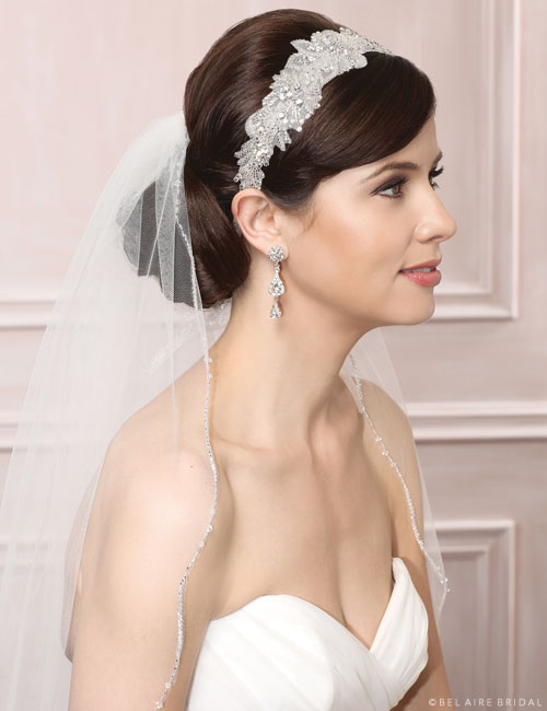 6471 Beaded tie headband