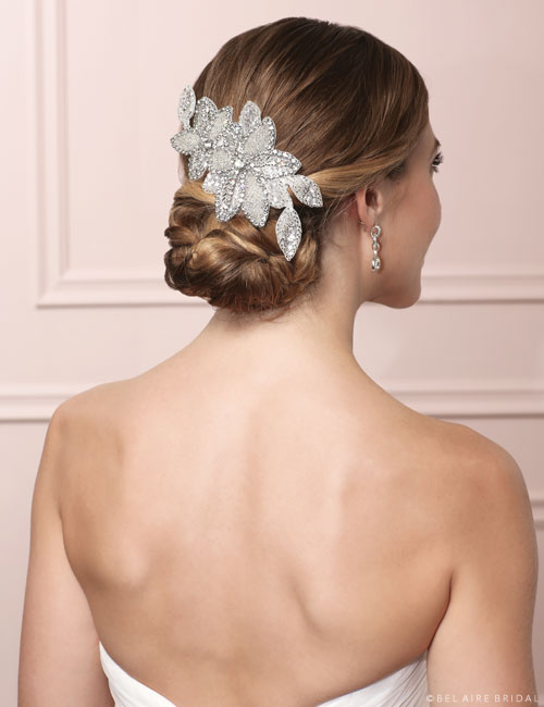 6476 Beaded headpiece clip