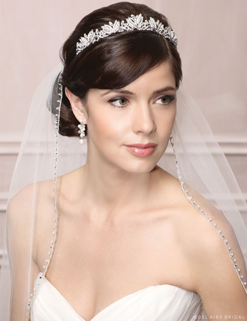 "6491 ""Vintage"" rhinestone & pearl tiara"