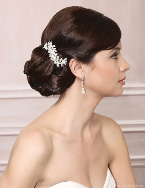 6493 Petite pearl & rhinestone clip