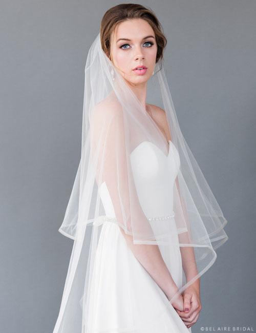 V7171 Horsehair waltz length veil