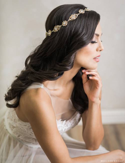 6700   Vintage-inspired flower halo