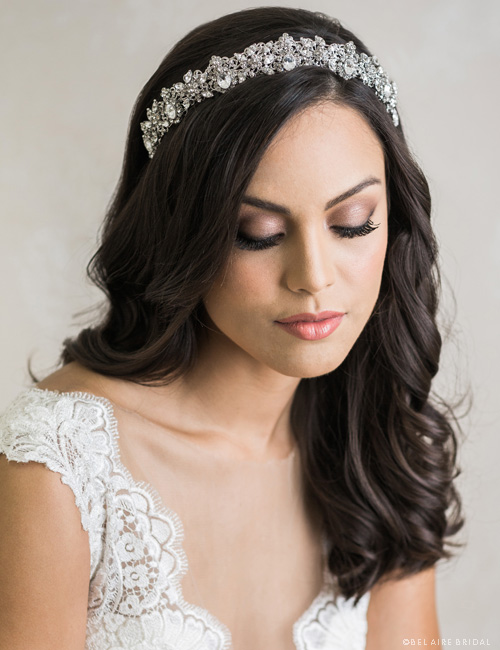 6702 Contoured rhinestone tiara