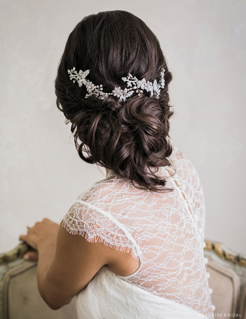 6717   Flexible metallic flower headpiece