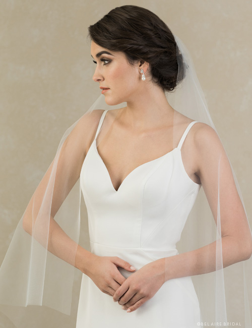 V7397   1-tier veil of soft luxe tulle with square corners