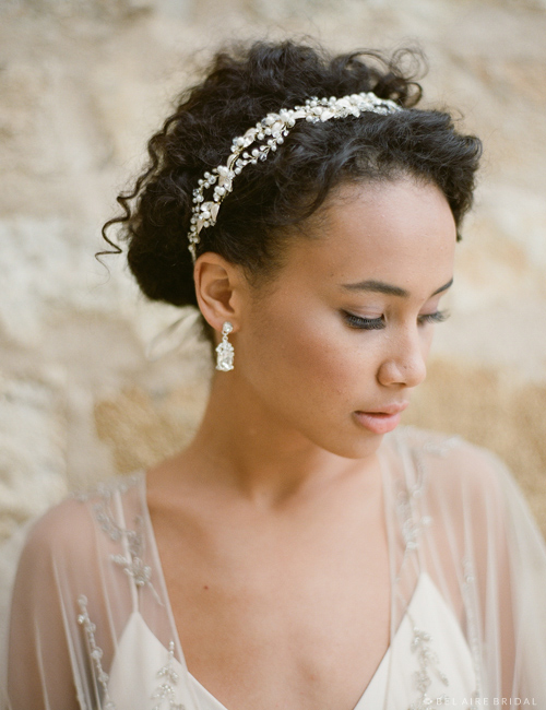 6632 Woven headband of pearls