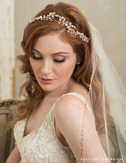 6755   Delicate rose headpiece