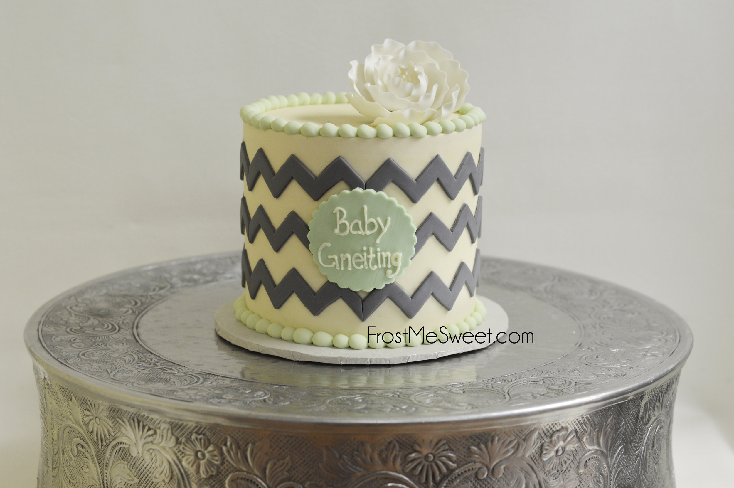 f300f648598a mint and grey chevron baby shower cake 2.jpg
