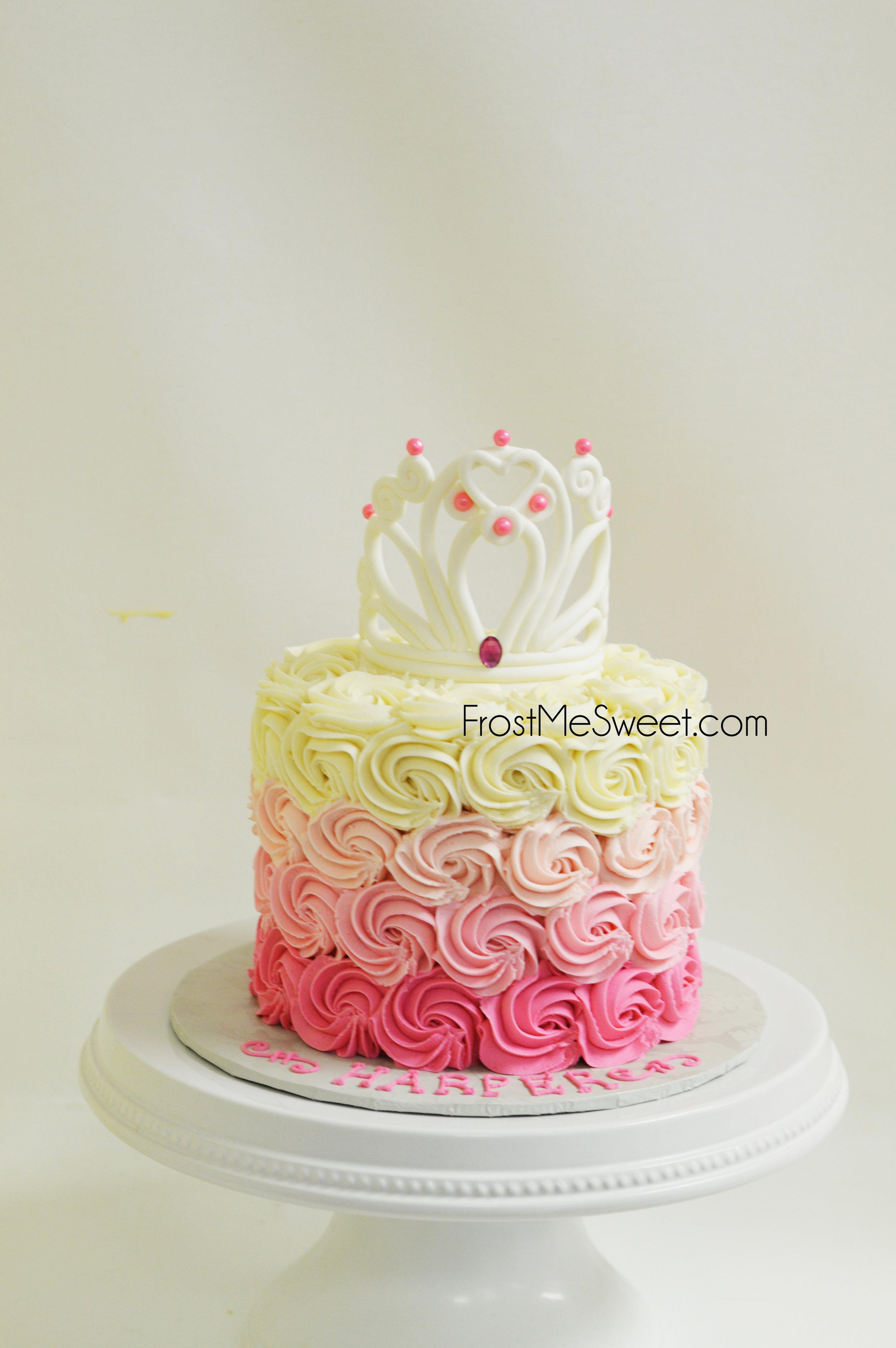Pink Ombre Princess Cake 2