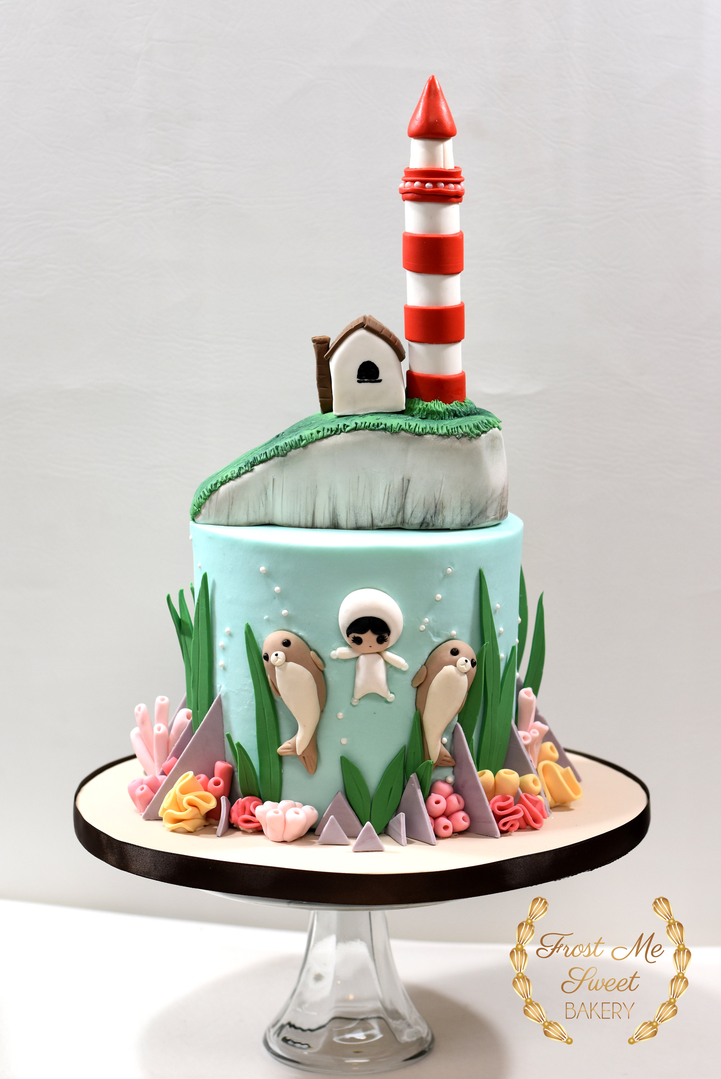 Kymms Underwater Baby Shower Cke