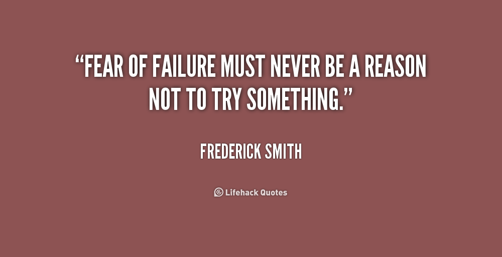 A nice quote from Frederick Smith