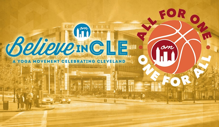 WATCH Believe in CLE Yoga Event inside of Quicken Loans Arena