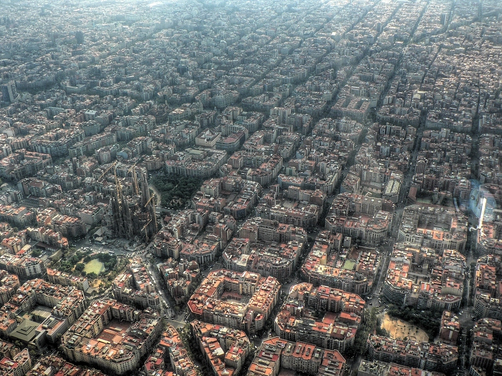 Barcelona, Spain   Looks like this city was well thought out. ( via )