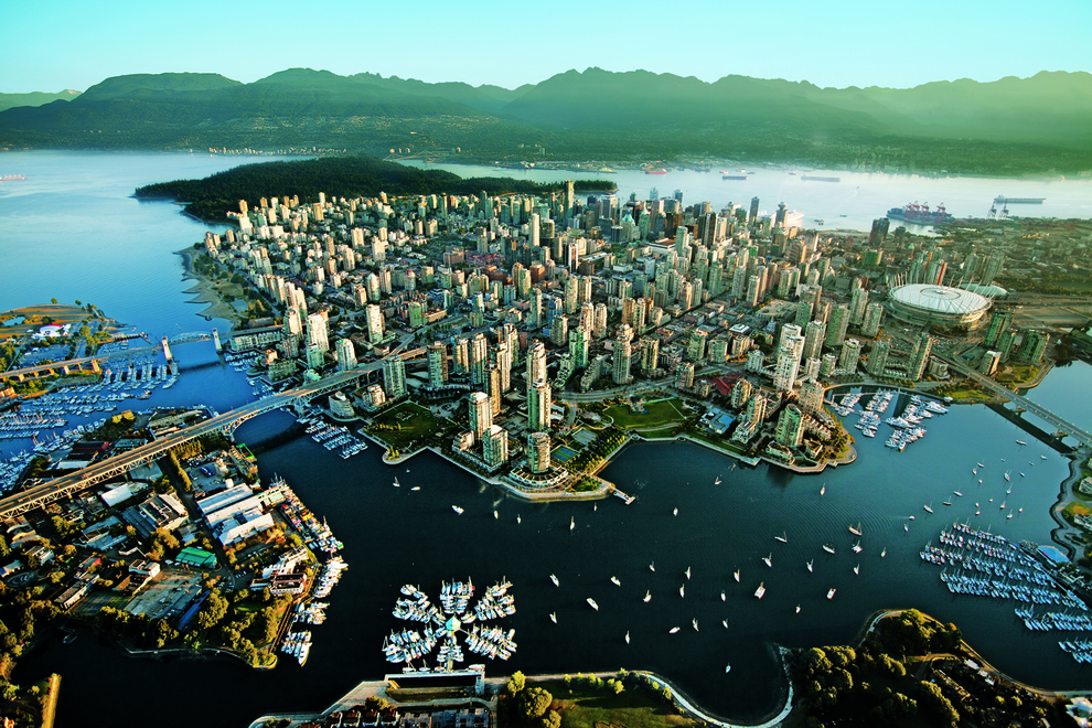 Vancouver, Canada    Vancouver is consistently called one of the most livable cities in the world, and this picture shows at least some of the reasons why. ( via )