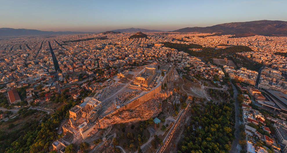The Acropolis of Athens, Greece    The Acropolis in Athens dates back to the 5th century BC. It was initially situated on the edge of the town of Athens.