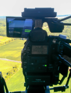 The Canon C300 used to capture the aerial shots.
