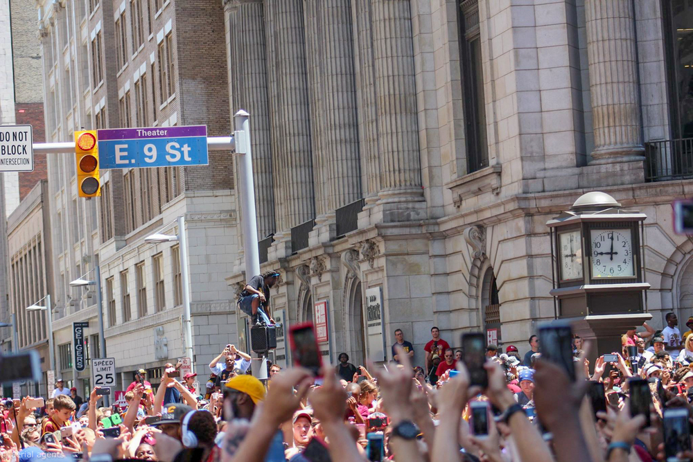Everyone is just trying capture history of this Cavs Championship parade