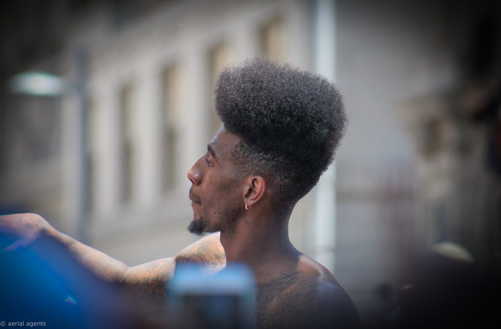 Iman Shumpert showing out for Cavs fans on e.9th St. during the Championship Parade