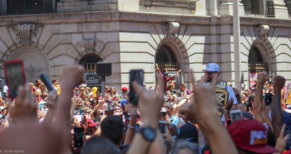 Kevin Love at the Cavs Championship Parade