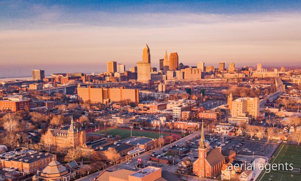 Sunset in Ohio City, Ohio