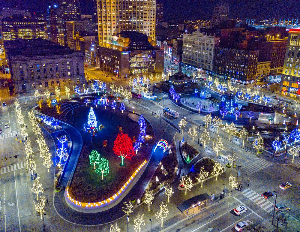 Public Square in Cleveland, Ohio • December 2017