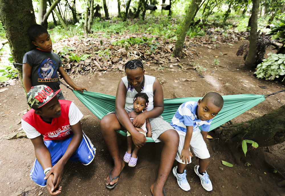 A family outside of Santo Domingo, Dominican Republic.