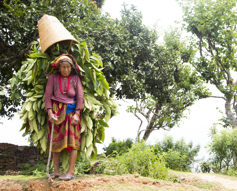 A woman in the Dolakha district in Nepal.