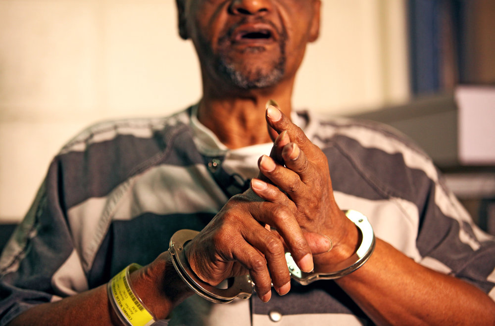 A portrait of a convict for a special report in The Virginian-Pilot.