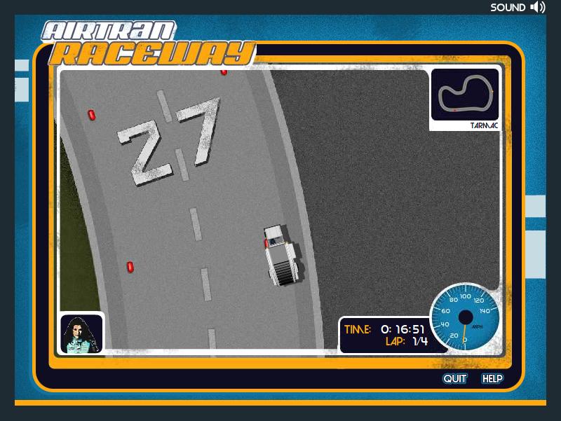 airtran raceway online game