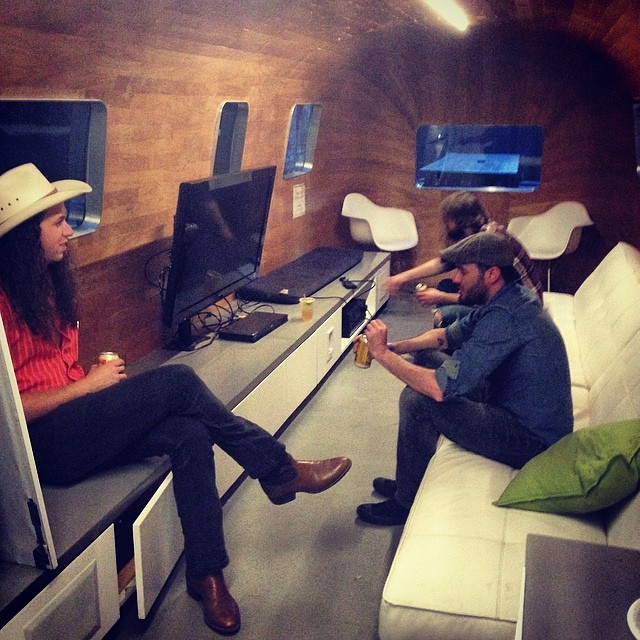 Shooting a music video in the airstream