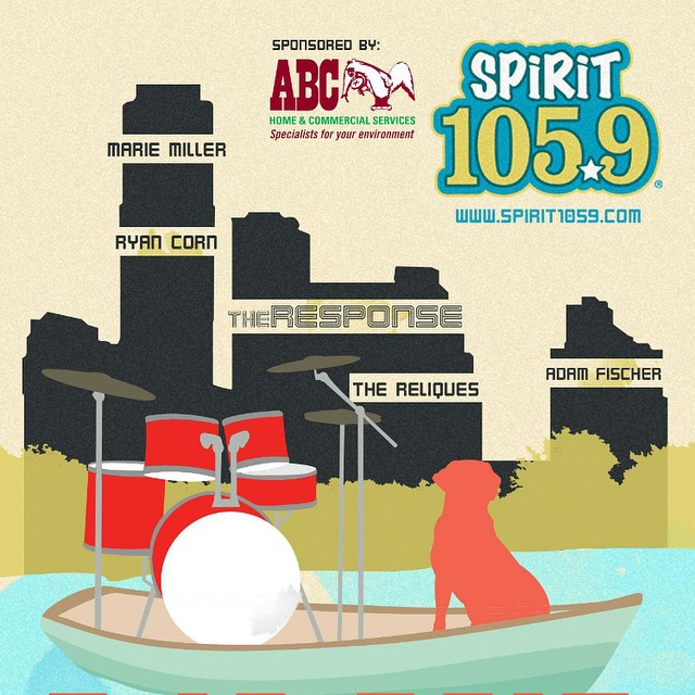 Come hang with us next Thursday (mar 19) for the @spirit1059 #FREE #Family #Showcase. No wristband needed! Head to www.spirit1059.com to grab a ticket! #freesxsw #freeatsxsw @theresponseband