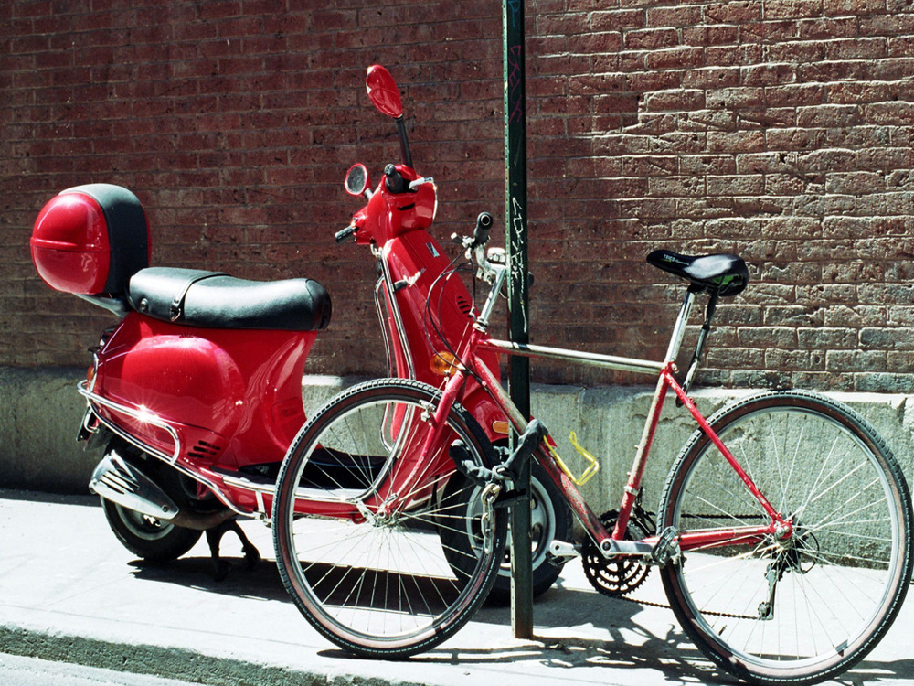 Red Vespa, Red Bicycle