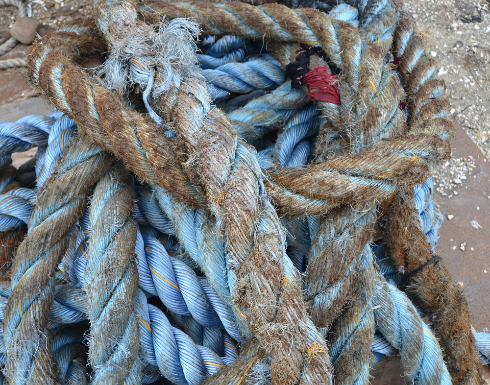 Blue Rope with Red Tape