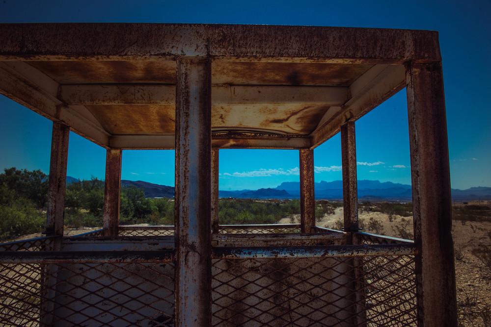 Terlingua Ghost town mining remnants. Terlingua, Texas.
