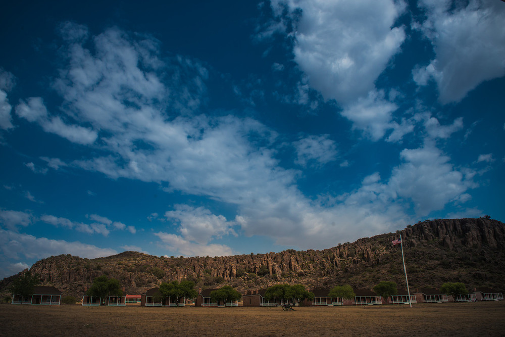 The old fort.Fort Davis, Texas.