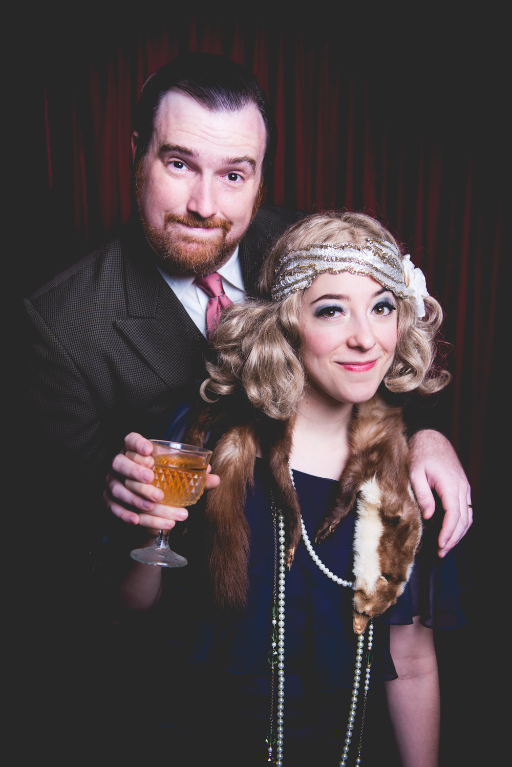Kaci Beeler and Curtis Luciani as F. Scott and Zelda Fitzgerald