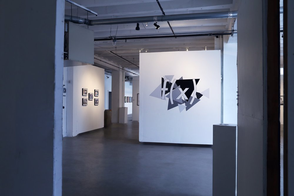 The exhibition, titled f(x) was held at the Mine Factory.