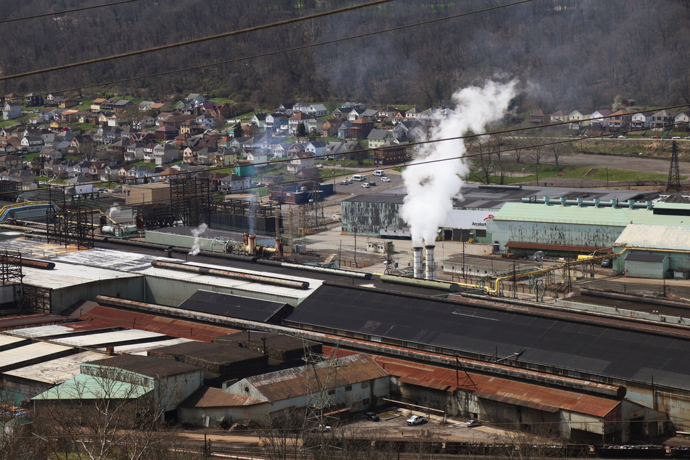 "An aerial view of the still-operational part of the former Weirton Steel. When asked if she would do it all again, Vanna said, ""I don't know honey... God puts you places for a reason sometimes."""