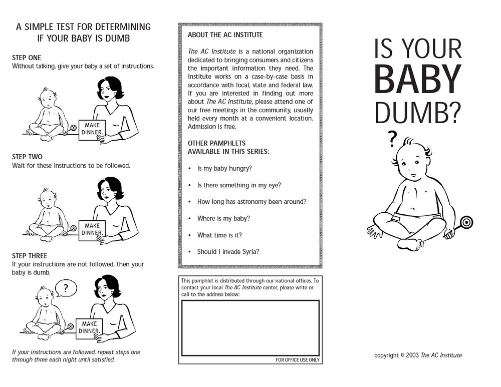 Is Your Baby Dumb?
