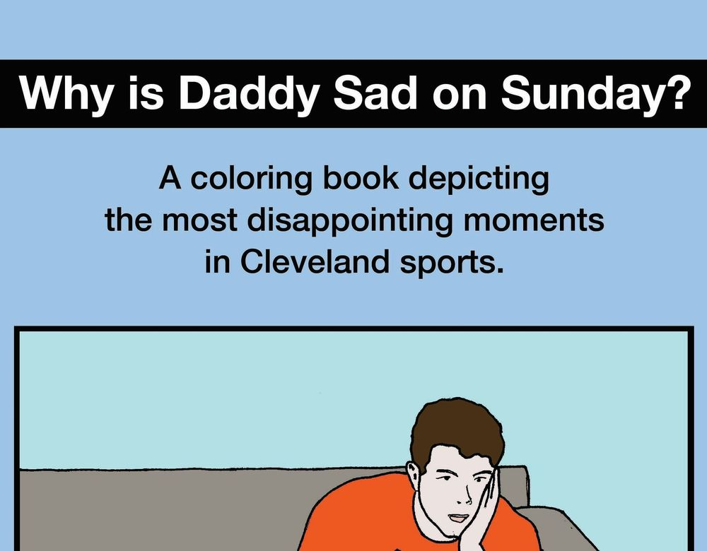 coloring book pdf download why is daddy sad on sunday - Cleveland Sports Coloring Book