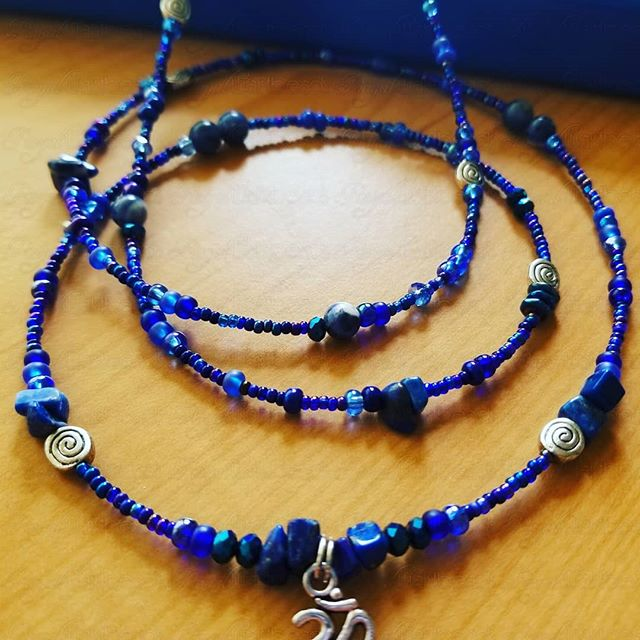Know yourself and be empowered! Accept yourself and be undefeated!  These beautiful Lapis Lazuli waistbeads help us go deep within our spirits to awaken our true destiny and divine purpose.  Only at RoyalWaistbeads.com.  Find your special code for 50% off your TOTAL order.