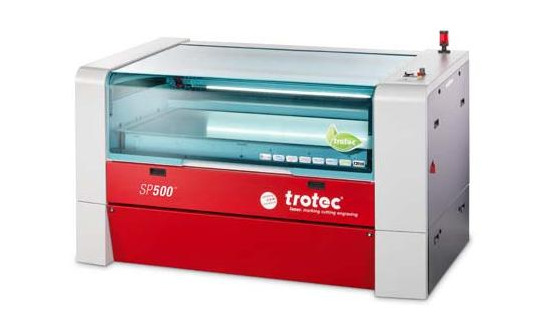 Trotec SP500 - A monstrous laser-cutter, used mainly for our commercial laser-cutting services, but also available for use by more experienced makers. The machine has a working area of 1245mm x 710mm, and can be used for cutting or engraving a wide range of materials including acrylics, plastics, MDF, leather and others. It can also be used for marking painted metal, stainless steel or aluminium.Price: £50/hour