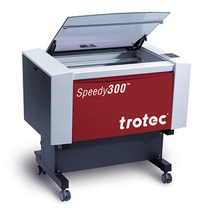 Trotec Speedy 300 - The Speedy300 has a working area of 726 mm x 432 mm. It is used for the engraving and cutting of signs, stamps and suchlike. A wide variety of materials such as rubber, acrylic, coated metal, tin, special steel, anodized aluminum, cork, cardboard, glass, leather, marble, several plastics and wood can be processed on the laser.Price: £50/hour