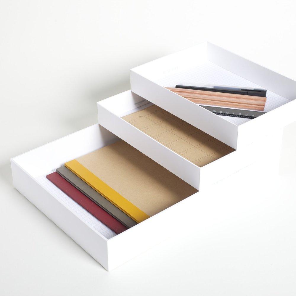 Paper Organizer - 2 iPad Boxes and 1 MacBook Box