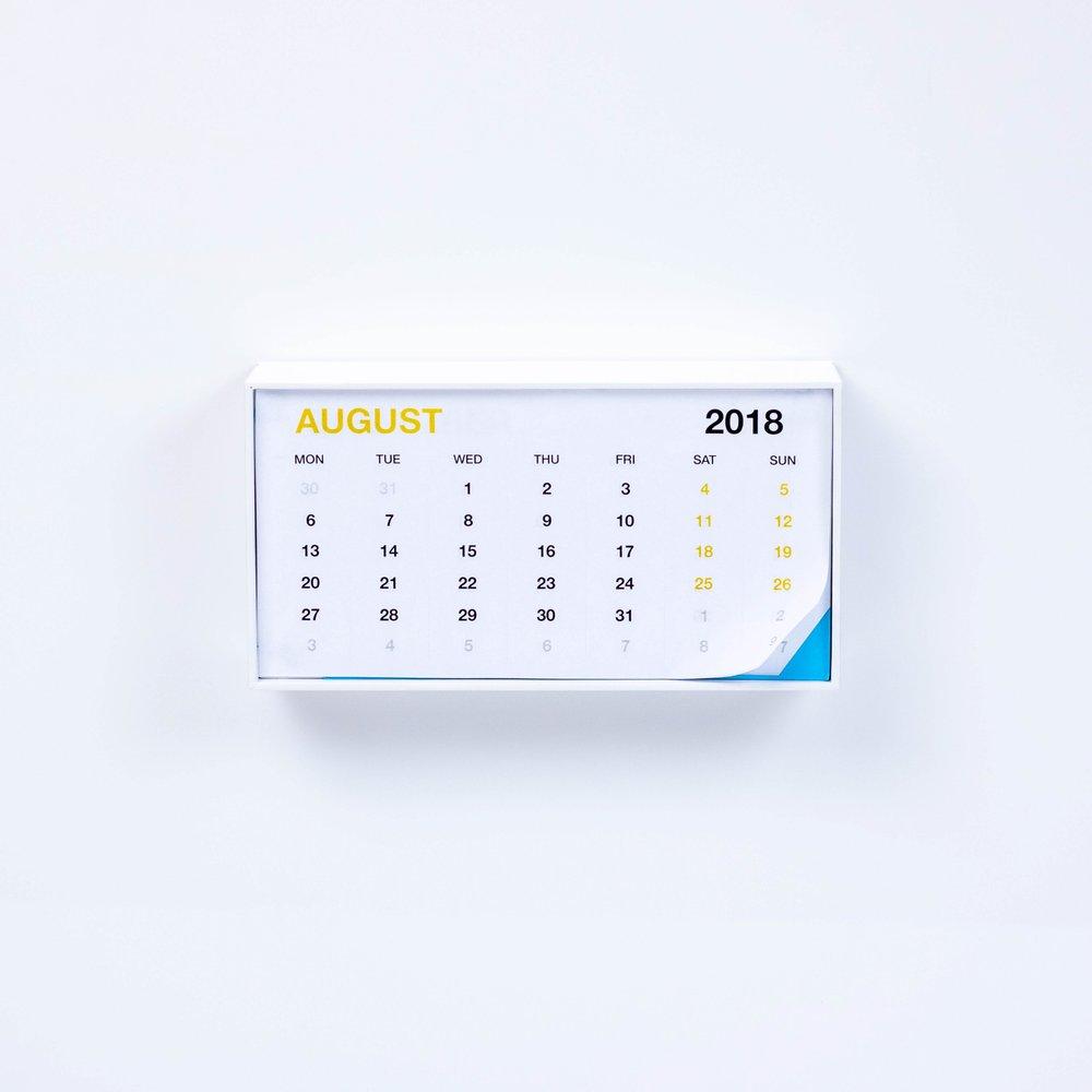 Calendar - iPhone box 7, 7plus, 8 or 8plus