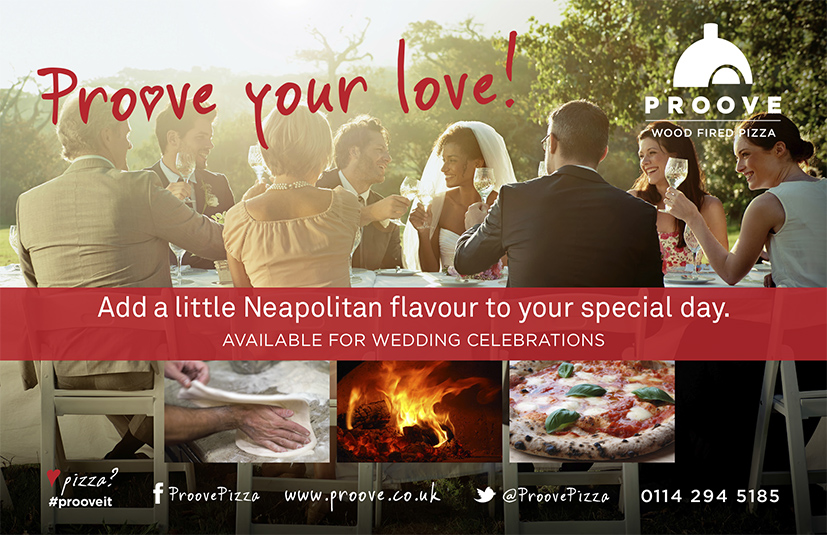 Proove Wood fired pizza magazine advert for westside sheffield