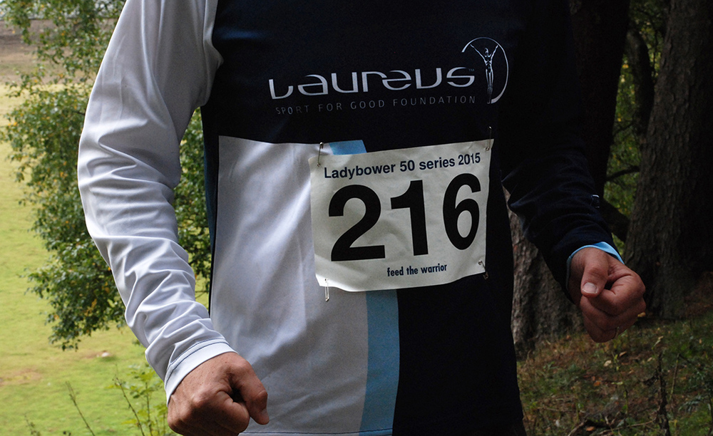 Ladybower 50 run for Laureus foundation for sports charity. 20 mile fell run around Ladybower reservoir in Derbyshire